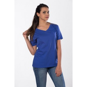 camiseta v moijejupe soft azul royal